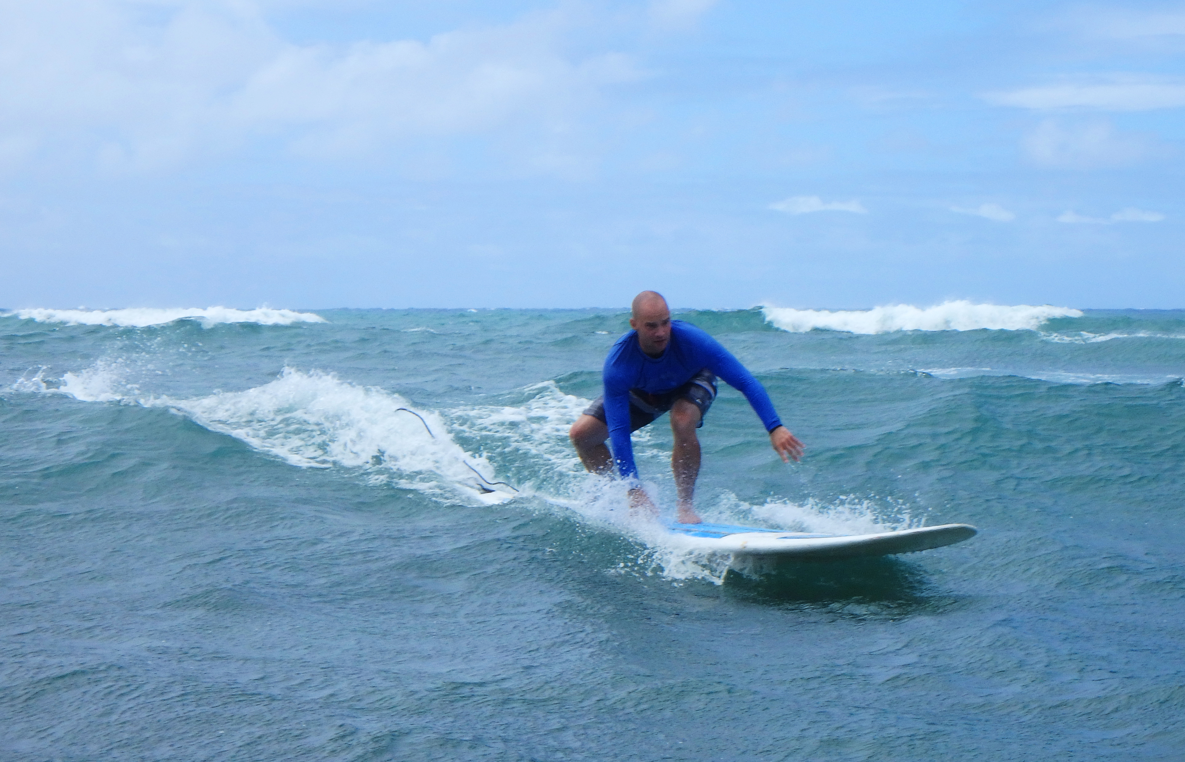 Surfing i Hawaii