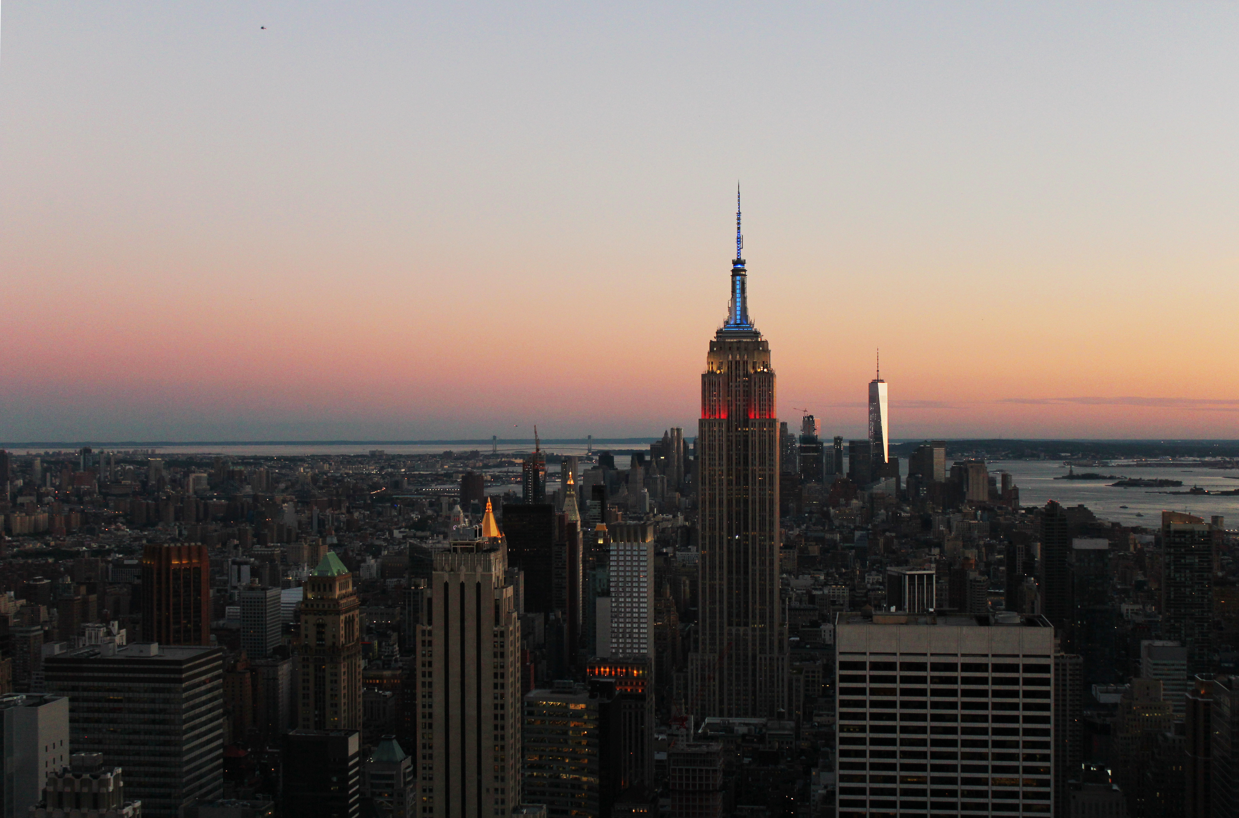 Empire State Building fra Rockefeller (top of the rock), New York