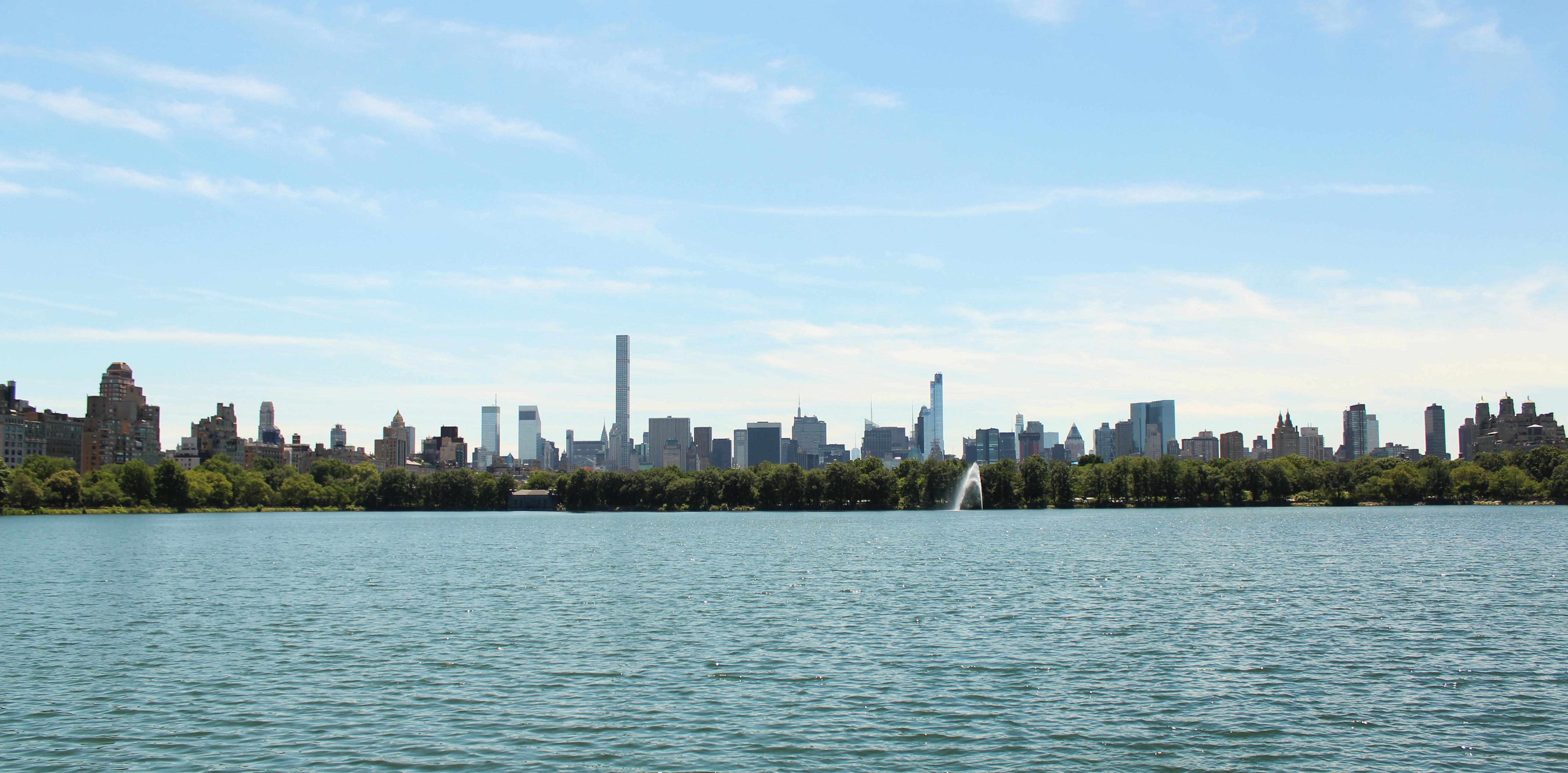 Central Park og New York Skyline