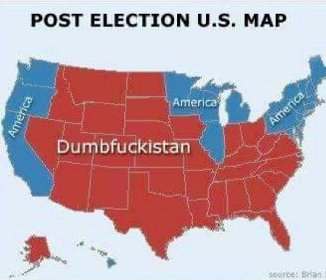 Electoral Map US Donald Trump
