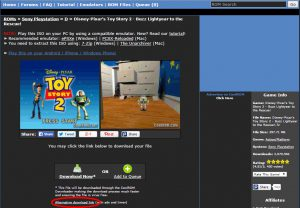 Download Gratis Playstation 1 Spil Screenshot