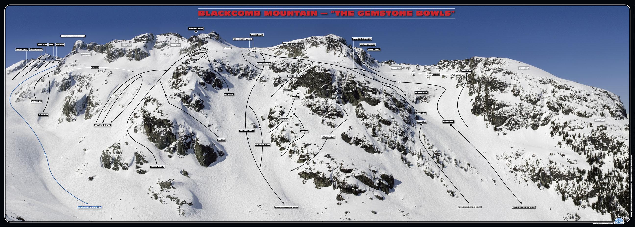 blackcomb glacier - mit favorit område i Whistler når der er puddersne