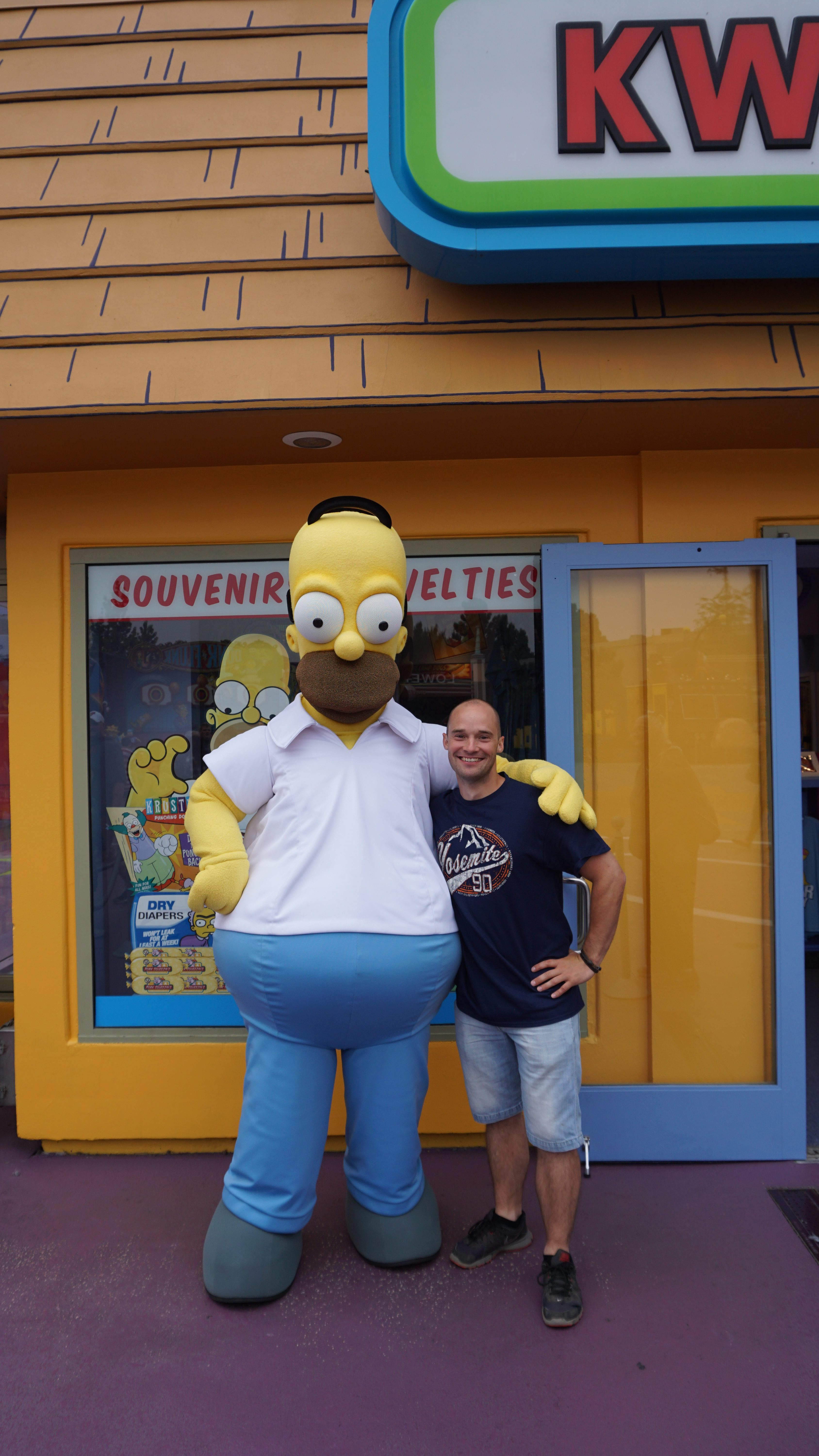 Homer Simpson, Universal Studios, Los Angeles, Californien