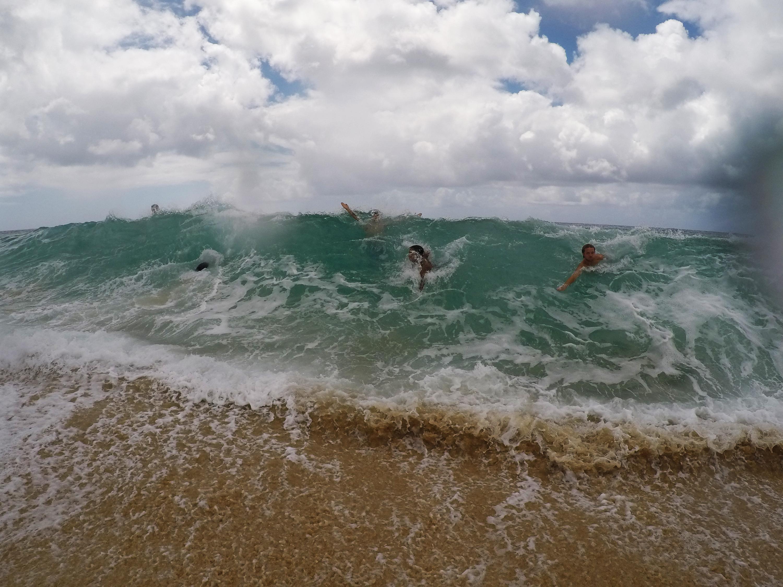 Kæmpebølger på Pipeline Beach, Hawaii Northshore