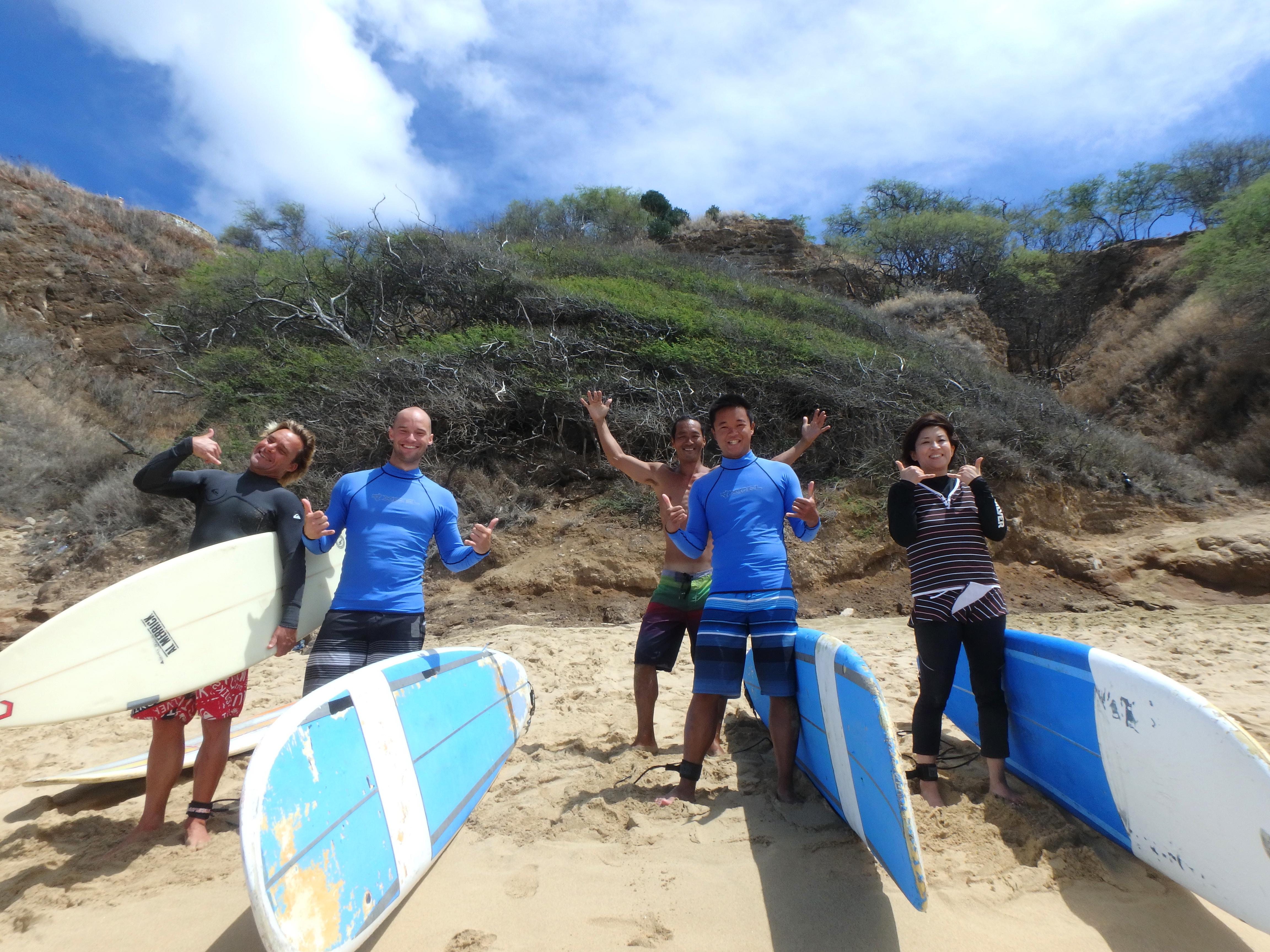 Surfing på Hawaii