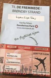 Danskernes Parti mangler respekt - Så rejs dog hjem fremmede