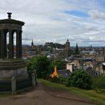 Dugald Stewart Monument, Edinburgh, Skotland i tørvejr